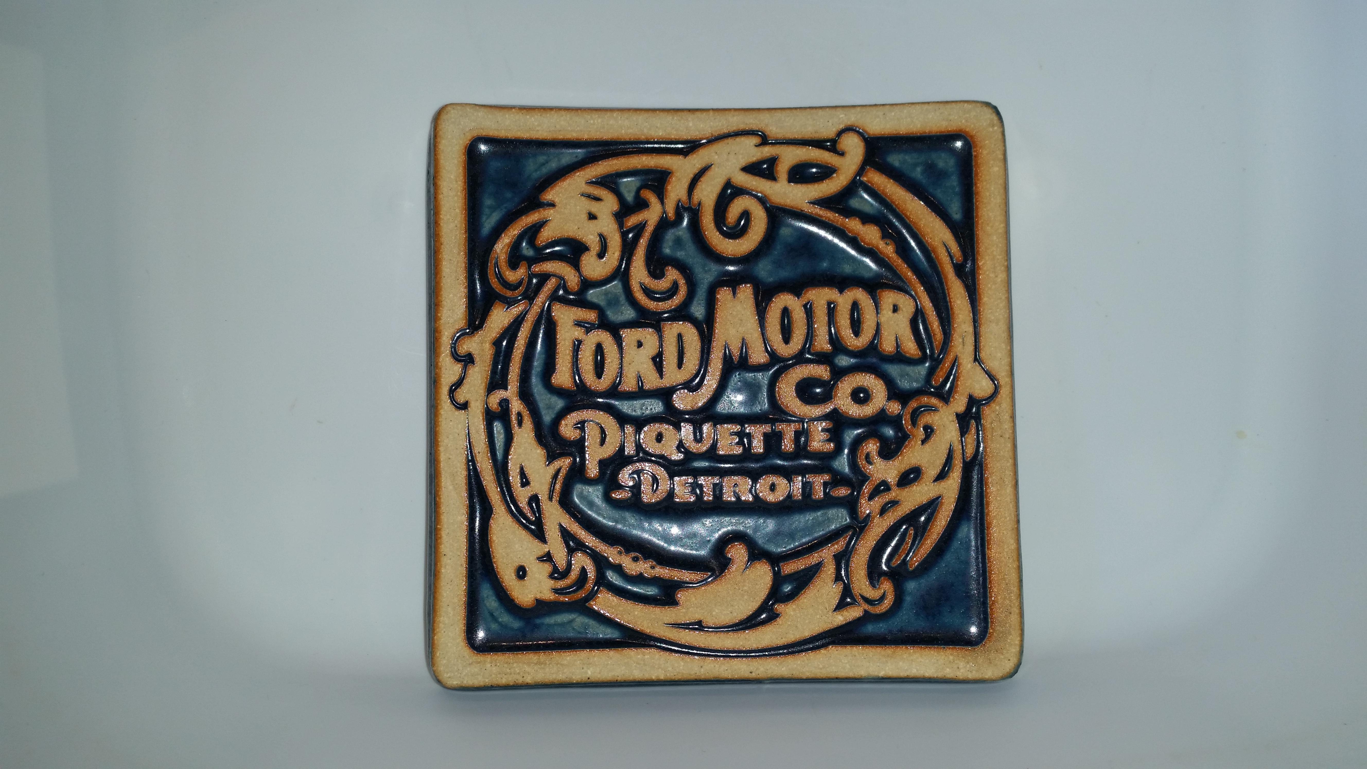 Vintage Logo Pewabic Tile